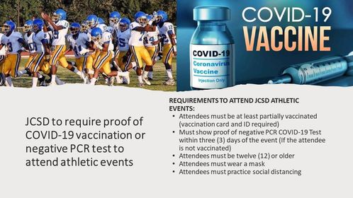 Jefferson County School District to require proof fo vaccine or negative test to attend games